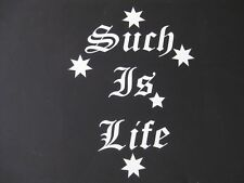 SOUTHERN CROSS SUCH IS LIFE STICKER/DECAL WHITE - NEW