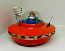 Vintage Tin Toy KO Made in Japan Battery Operated Flying Saucer. Working. Rare!!