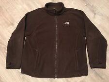 Men's XL The North Face Brown Fleece Khumbu Jacket Coat TNF Full Zip Denali