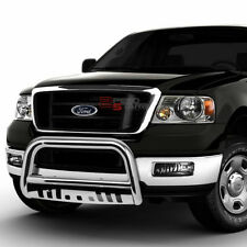 FOR 04-16 F150 NON-ECOBOOST/03+EXPEDITION BUMPER BULL BAR GRILLE PLATE CHROME