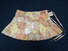 Emergency Exit Pleated Floral Skirt With Zipper & Tie String Waist Lady's Size 9