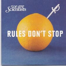 We Are Scientists-Rules Dont Stop promo cd single