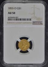1855-O Gold Dollar - Type 2 G$1 NGC AU50