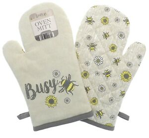 Busy Bee Single Oven Glove Mitt Padded Thick Heat Resistance Kitchen Pot Holder