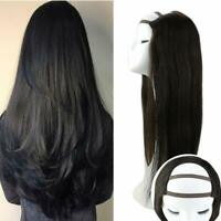 Sunny U Part Wig Remy Quality Natural Black 1b# 100% Real Human Hair Straight