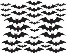 "Amscan, Halloween Cemetery Bat Cutouts Mega Value Pack, 7"", 10, 12, 17"", 30 Pack"