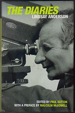 LINDSAY ANDERSON - The Diaries H/B D/J 1st Edn Film Theatre Studies
