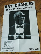 RAY CHARLES POSTER 70s RARE AFFICHE FRENCH POSTER ORIGINAL