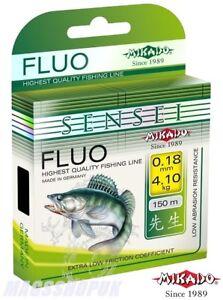 FISHING LINE MIKADO ''SENSEI FLUO'' 150 METERS. ALL DIAMETERS, ZANDER, PIKE