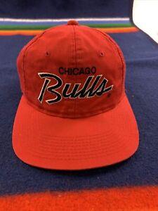 Vintage Hat Chicago Bulls Sports Specialties Script Michael Jordan era