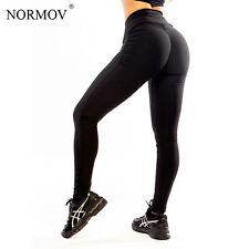 Women Fitness Leggings Black High Waist Leggings Skinny Push Up Pants