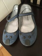 EUC Little Marc Jacobs Mouse Mary Jane Flat Youth 3.5 4 EU 35 Gray Leather Shoes