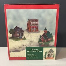 Liberty Falls Village Set of 4 Beauty Shop, Engine house, Peter's, & Church New!