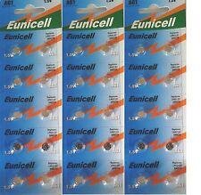 EUNCELL Lot de 30 Piles bouton AG1 LR621 164 364 531 1,5V alcaline