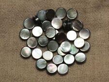 10pc - Perles de Nacre Noire naturelle Palets 8mm - 4558550032546