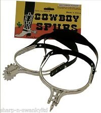 EPERONS Cowboy Pour Homme Wild West fancy dress costume outfit Accessoire