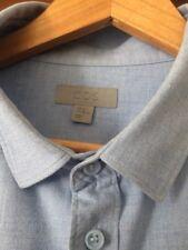 Cos Mens Brushed Cotton Blue Shirt XL