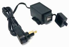 12V Doppel USB Steckdose 2A/1A spritzwassergeschützt für Motorrad
