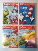 Dr. Seuss -The Cat in the Hat/Green Eggs/Grinch Grinches/Lorax (4 DVD, 2003) NEW