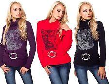Langarm Damen-Pullover & -Strickware aus Acryl ohne Verschluss