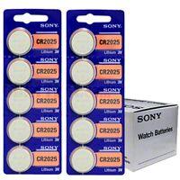 10 piles Sony CR2025 Pile Bouton Lithium - 3V   DLC 2025