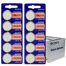 10 piles Sony CR2025 Pile Bouton Lithium - 3V   DLC 2025