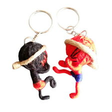 2 ea. / Set Cute Handmade Boxing Muay Thai Voodoo Cotton String Doll Keychains
