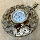 VTG LA MARQUE Swiss Lady Gold Tone Hand-Wind Necklace Pendant Pocket Watch Hours