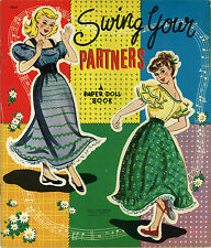 Vintge Uncut 1950S Swing Your Partner Paper Doll ~Lowe Org Size~Lasr Reproductin