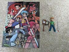 "Scott Pilgrim vs The World Scott Pilgrim 6"" Action figure Mezco with poster"