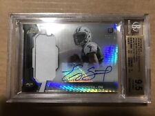 2013 Finest Geno Smith Rookie Patch Autograph Prism Refractor Card #'d/25!!!
