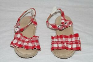 Janie and Jack midsummer picnic red plaid shoes 4th of July Memorial day 6 HCB