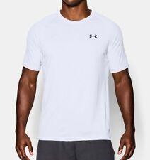 Maglia da uomo bianche per palestra, fitness, corsa e yoga