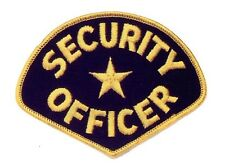 GOLD BLACK STAR CENTER SECURITY GUARD OFFICER UNIFORM SHOULDER PATCH BADGE