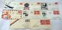 8 USA AirMail Stamps FDC SC# C23 C32 C33 First Day Cover Collection