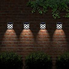 2 Pack 6 LED Solar Powered Outdoor Garden Fence Post Wall Shed Step Lights