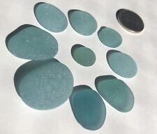 Surf-Tumbled GENUINE Sea glass Beautiful Beach Glass Jewelry/Crafts Blue h5