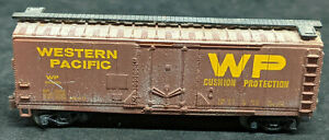 BACHMANN N Scale: WESTERN PACIFIC WP #60639 BOXCAR Brown Vintage