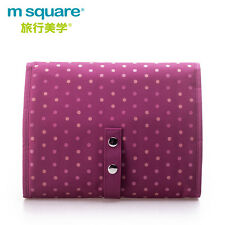 M SQUARE travel large capacity multi-functional makeup wash bag (point pink)
