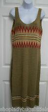 RALPH LAUREN SOUTHWESTERN INDIAN BLANKET SLEEVELESS CROCHET KNIT BOHO DRESS L