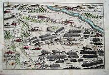 Schlacht Planian Tschechien  Kupferstich Landkarte 1770