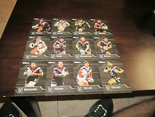 2013 NRL TRADERS WARRIORS COMMON TEAM SET 12 CARDS TAYLOR PACKER LOCKE HENRY