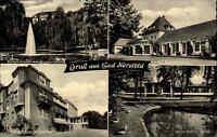 Bad Hersfeld 1961 Mehrbildgrußkarte Wigbertshöhe Wandelhalle Sanatorium Kurpark