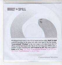 (BO708) Built to Spill, Conventional Wisdom - 2007 DJ CD