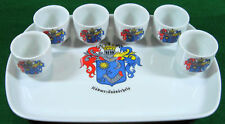 """Adolfi Porcelain  9 1/4"""" Tray & 6 Cups Pre-Owned Very Good Cond No Box       388"""