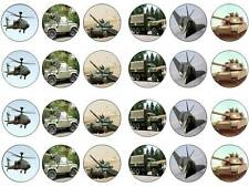 24 Army soldier   bun fairy cupcake toppers birthdays party edible paper