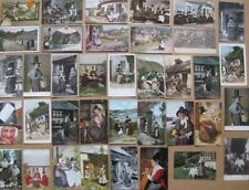 More details for wales job lot of 37x postcards pre-1915, welsh ladies in traditional dress