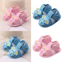 FT- Baby Girl Boy Summer Soft Sole Shoes Sandals Cartoon Elephant Pattern Shoes