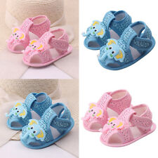 Baby Girl Boy Summer Soft Sole Shoes Sandals Cartoon Elephant Pattern Shoes Clev