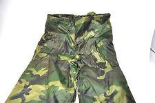 US Army Wet Weather Pants | Woodland Camo Rain Trousers | Sz. Sm.